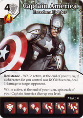 Captain America - Freedom Fighter (Die & Card Combo)