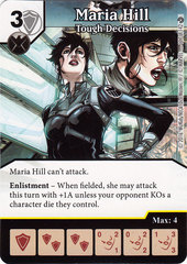 Maria Hill - Tough Decisions (Die & Card Combo)