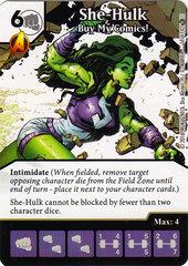She-Hulk - Buy My Comics! (Die & Card Combo)
