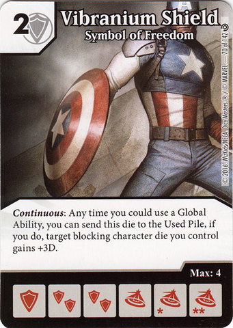 Vibranium Shield - Symbol of Freedom (Die & Card Combo