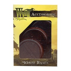 Malifaux: Accessories - Brown Translucent Bases 40mm