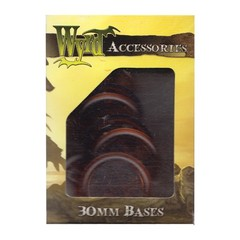 Malifaux: Accessories - Brown Translucent Bases 30mm