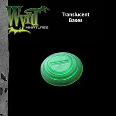 Malifaux: Accessories - Green Translucent Bases 40mm (5)
