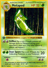 Metapod - 54/102 - Common - 1st Edition