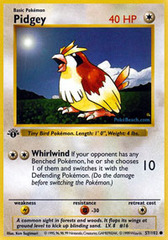 Pidgey - 57/102 - Common - 1st Edition
