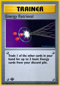 Energy Retrieval - 81/102 - Uncommon - 1st Edition
