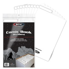 BCW COMIC BOOK DIVIDERS - WHITE
