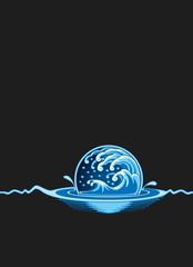 Deck Protector Sleeves - Elemental Medallion Blue - 50ct