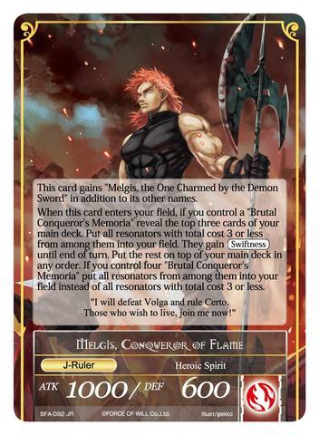 Memoria of the Seven Lands // Melgis, Conqueror of Flame - BFA-092 - R - Uber Rare