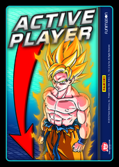 Active Player Card (Goku) on Channel Fireball