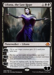 Liliana, the Last Hope on Channel Fireball