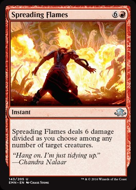 Spreading Flames