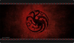 A Game of Thrones LCG - House Targaryen Playmat