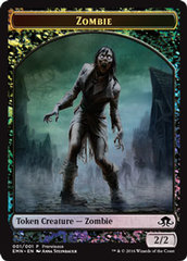 Zombie Double-Sided Token (Eldritch Moon Prerelease Foil)