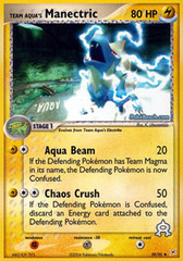 Team Aqua's Manectric - 29/95 - Uncommon