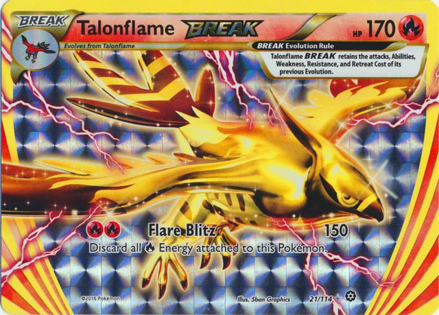 Talonflame BREAK 21//114 Steam Siege ULTRA RARE Pokemon Card NEAR MINT