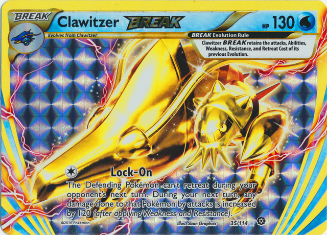 Clawitzer BREAK - 35/114 - Rare BREAK