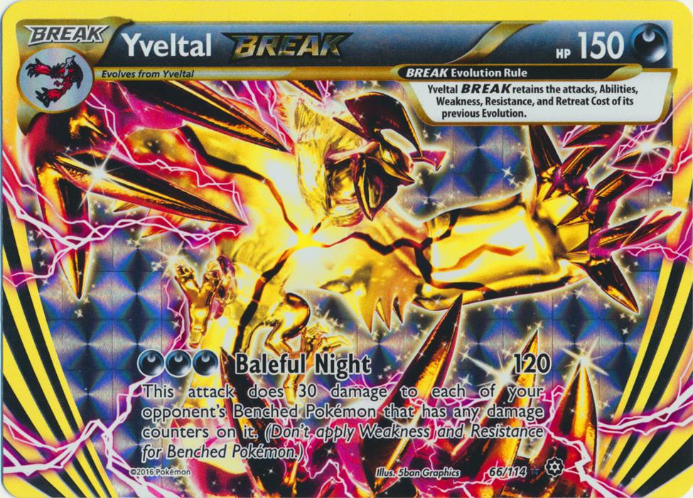 Yveltal BREAK - 66/114 - Rare BREAK