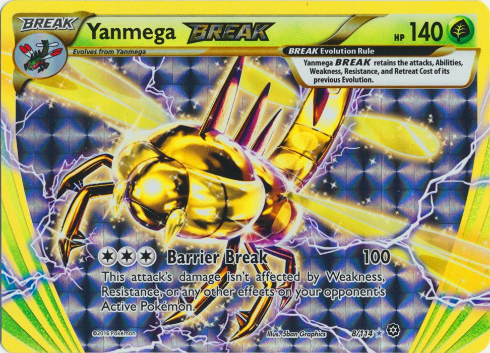 Yanmega BREAK - 8/114 - Rare BREAK