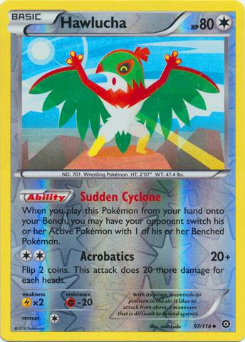 Hawlucha 97114 Uncommon Reverse Holo Pokemon Pokemon