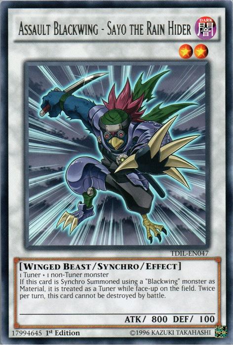 Assault Blackwing - Sayo the Rain Hider - TDIL-EN047 - Rare - 1st Edition