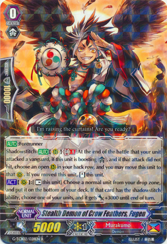 Stealth Demon of Crow Feathers, Fugen - G-TCB02/028EN - R