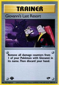 Giovannis Last Resort - 105/132 - Rare - 1st Edition