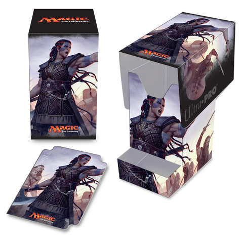 Ultra Pro - Commander 2016 PRO - 100+ Deck Box with Tray, Saskia the Unyielding, for Magic