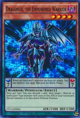 Dragonox, the Empowered Warrior - CT13-EN006 - Super Rare - Limited Edition