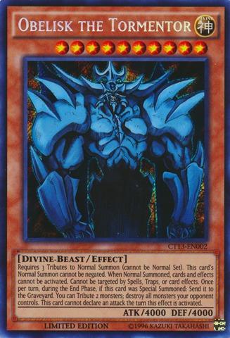 CT13-EN001 Slifer the Sky Dragon Secret Rare Limited Edition Mint YuGiOh Card kaartspellen