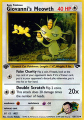 Giovanni's Meowth - 43/132 - Uncommon - 1st Edition