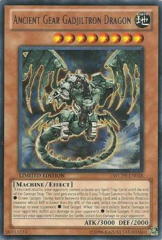 Ancient Gear Gadjiltron Dragon - WCPP-EN018 - Rare - Limited Edition
