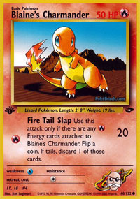 Blaines Charmander - 60/132 - Common - 1st Edition
