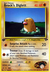 Brock's Diglett - 67/132 - Common - 1st Edition