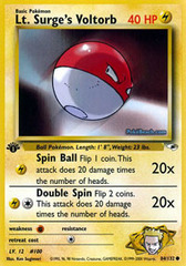 Lt. Surge's Voltorb - 84/132 - Common - 1st Edition