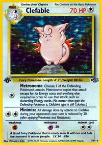 Clefable - 1/64 - Holo Rare - 1st Edition