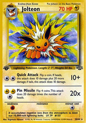 Jolteon - 20/64 - Rare - 1st Edition