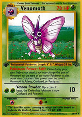 Venomoth - 29/64 - Rare - 1st Edition on Channel Fireball