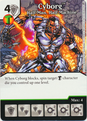 Cyborg - Half-Man Half-Machine (Die & Card Combo)