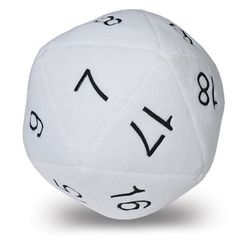 Ultra-Pro Jumbo D20 Plush Dice - White