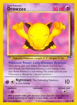 Drowzee Base Set 1999 Unlimited Print EX 49//102 Pokemon Card.