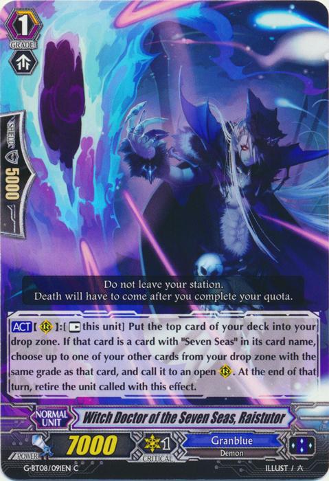 Witch Doctor of the Seven Seas, Raistutor - G-BT08/091EN - C