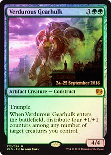 Verdurous Gearhulk - Foil - Prerelease Promo