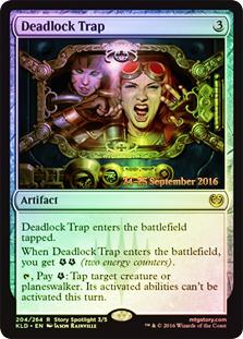 Deadlock Trap - Foil - Prerelease Promo