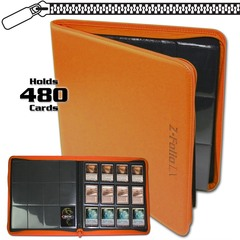 BCW Z-Folio 12-Pocket LX Album - Orange