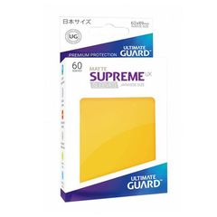 Matte - Yellow - Supreme UX (Ultimate Guard) - Small Sleeves - 60ct