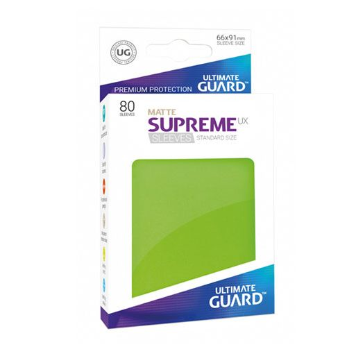 Ultimate Guard - Supreme UX Sleeves Standard Size - Matte - Light Green (80)