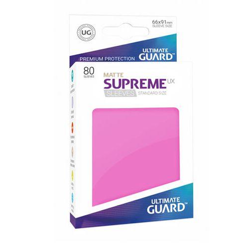 Ultimate Guard - Supreme UX Sleeves Standard Size - Matte - Pink (80)