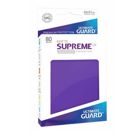 Ultimate Guard - Supreme UX Sleeves Standard Size - Matte - Purple (80))