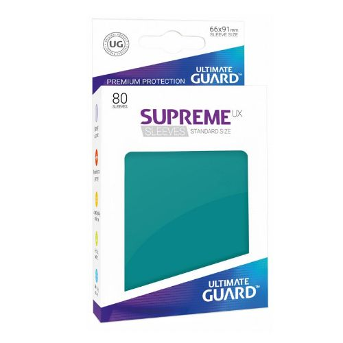 Ultimate Guard - Supreme UX Sleeves Standard Size - Petrol Blue (80)